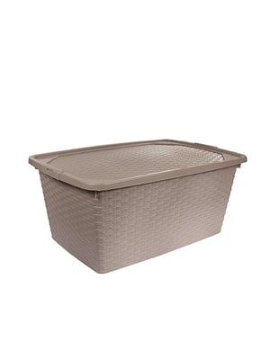 Ящик пластиковый с крышкой , не прозрачный  Heidrun Intrigobox, (40л) (59х39х26см) | 5132159