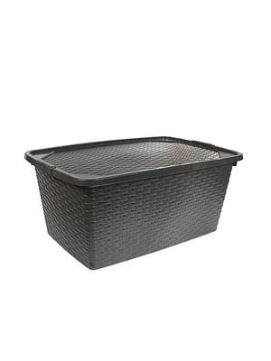 Ящик пластиковый с крышкой , не прозрачный  Heidrun Intrigobox, (40л) (59х39х26см) | 5132160