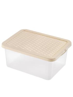 Ящик пластиковый с крышкой прозрачный Heidrun R-BOX  (43х33х18см) (18л) | 5132161