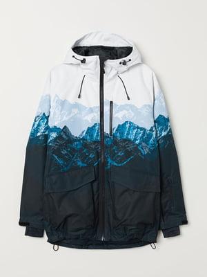 Куртка біло-синя | 5104634