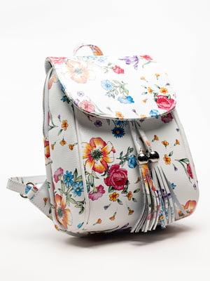Сумка-рюкзак белая в  принт | 5129161