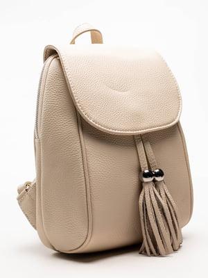 Сумка-рюкзак кремового кольору | 5129163