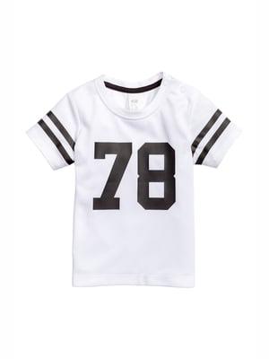 Футболка белая с принтом   5135753