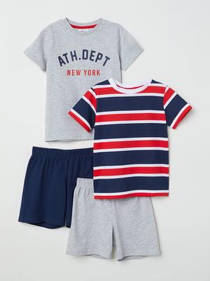 Набор пижам (2 шт.): футболка и шорты | 5135204