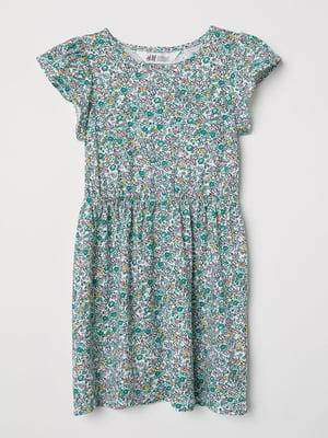Сукня біла з квітковим принтом | 5134997