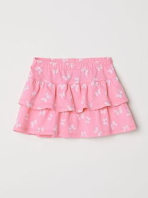 Юбка розовая с принтом | 5135253