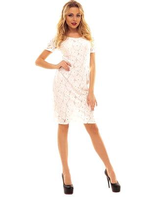 Сукня біла з візерунком | 5124582