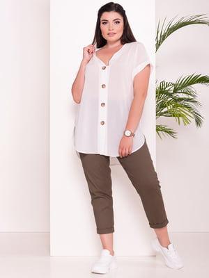 Блуза молочного цвета   5116471