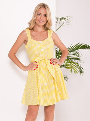 Платье бело-желтое | 5136073