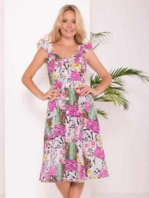 Платье анималистической расцветки | 5136087