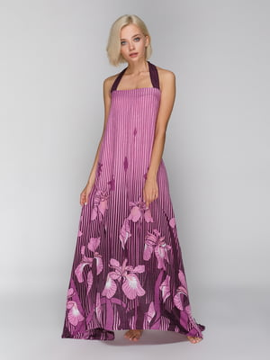 Парео-сарафан фіолетове з принтом - Anabel Arto - 5128941