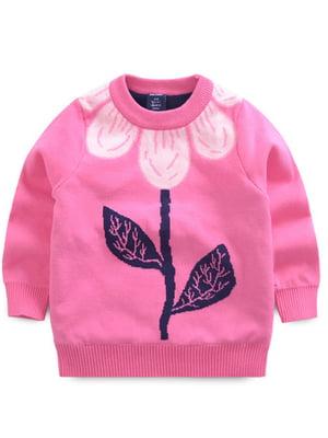 Джемпер рожевий з малюнком | 4859280