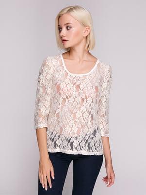 Блуза кремового цвета   4617485