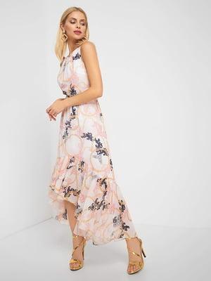 Сукня світло-рожева з принтом | 5136976
