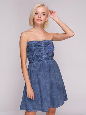 Платье синее | 4620326