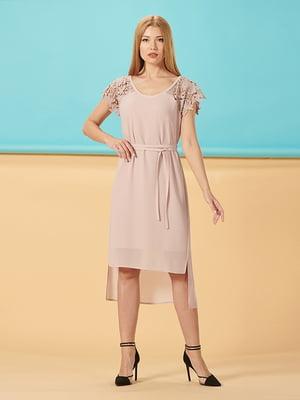 Сукня кольору пудри | 5139565