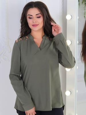 Блуза оливкового цвета | 5010607