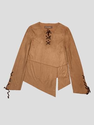 Блуза коричнева | 1682320