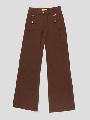 Брюки коричневые | 2056875