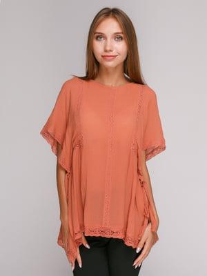 Блуза терракотовая | 3265953