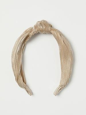 Ободок для волос золотистый | 5113115