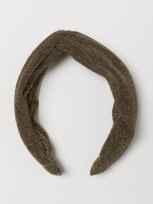 Ободок для волос золотистый | 5113116