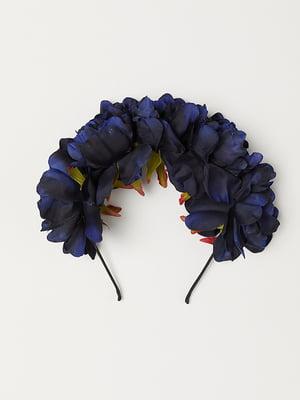 Ободок для волос синий | 5113119