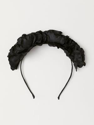Обруч на волосся чорний | 5113120