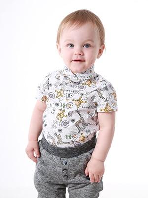 Рубашка-боди в принт | 5140574
