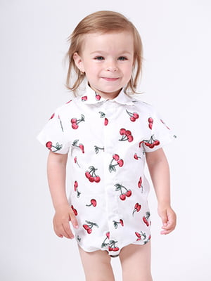 Рубашка-боди в принт | 5140575