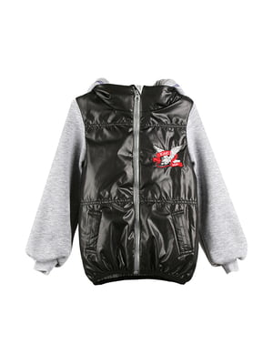 Куртка чорно-сіра | 5140550