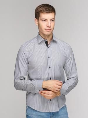 Рубашка серая в полоску | 5114359