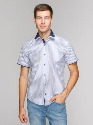 Рубашка синяя в полоску | 5114409