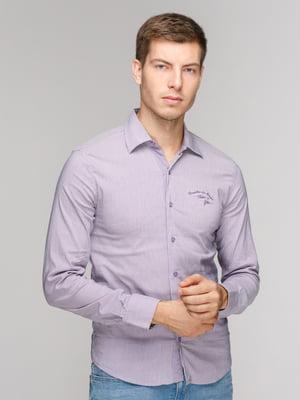 Рубашка фиолетовая в полоску | 5114375