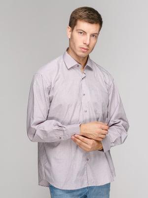 Рубашка бежевая в клетку | 5114380