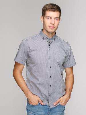 Рубашка черная в полоску   5114395