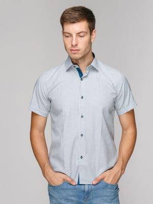 Рубашка серая в полоску | 5114405