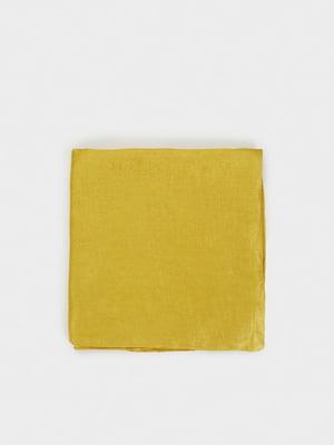 Шарф кольору гірчиці | 4981011