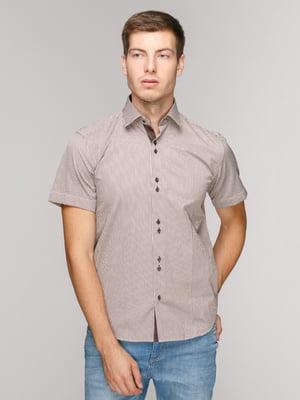 Сорочка коричнева в смужку | 5114419