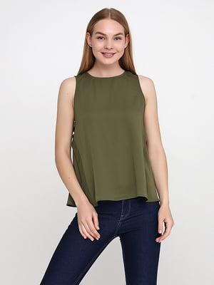 Блуза цвета хаки | 5140645
