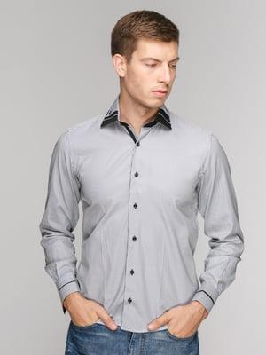 Рубашка черная в полоску | 5114387