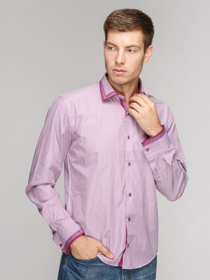 Сорочка фіолетова в смужку | 5114361