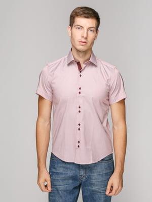 Рубашка бордовая в полоску | 5114396