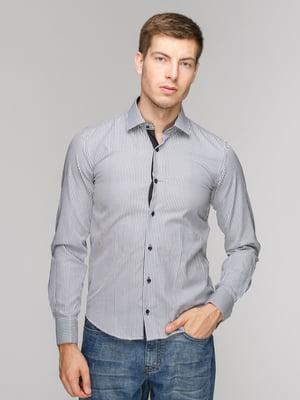 Рубашка черная в полоску | 5114389
