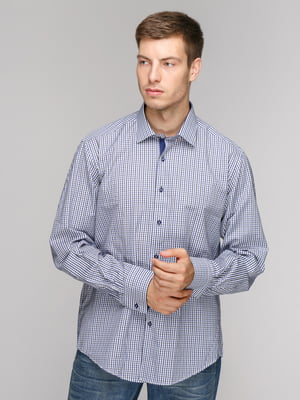 Рубашка синяя в клетку | 5114364