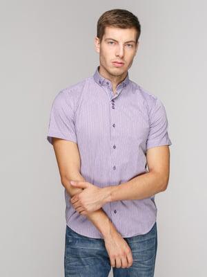 Сорочка фіолетова в смужку | 5114398