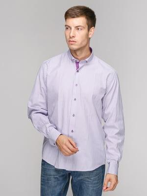 Сорочка фіолетова в смужку | 5114371