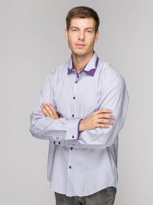 Сорочка фіолетова в клітинку | 5114397