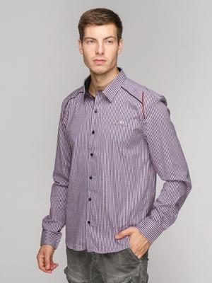 Рубашка фиолетовая в полоску | 5114382