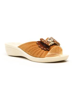 Шльопанці коричневі | 5120060